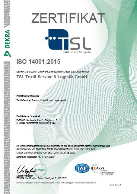 PDF Zertifikat Umweltmanagement ISO 14001